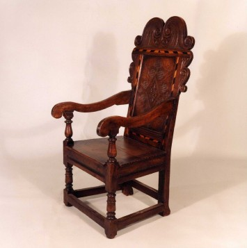 17th Century reproduction oak chairs