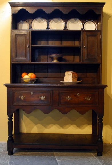 16th 17th Century Reproduction Oak Dressers And Painted