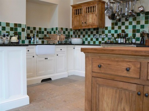 Free standing painted hardwood kitchen