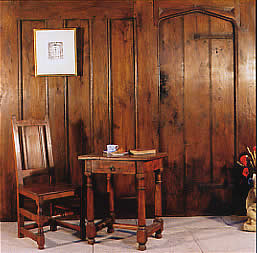 18th Century style panelling with Gateleg table