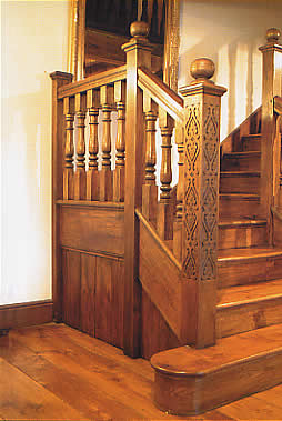Manor Farm Staircase With Balusters And Finials