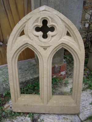 36 High X 24 Wide Double Gothic Arched Window With Quatrefoil