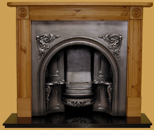 Pine fireplace Surrounds, Castle Reclamation, Reclaimation, Somerset